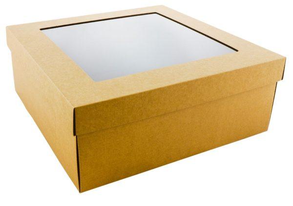 Micro gofro kartono dviejų dalių dėžutės su langeliu