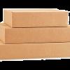 Plokščios gofro kartono dėžės
