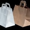Popieriniai maišeliai su plačiu dugnu